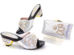Wholesale Gold Glitter Wedding Shoes - 17041703 latest design italian shoes and bags set to match high quality fashion style women shoes!