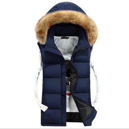 Wholesale Womens Cotton Knit Vest - Wholesale- 2015 Winter couples colete masculino vest men's Waistcoat new leisure cotton gilet Womens slim veste sleeveless jackets Hooded