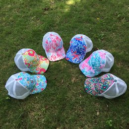 Wholesale Sailing Cap - 2017 New Style Monogrammeable Crown Starfish Mesh Trucker Cap Sailing Seashell Trucker Cap Trucker Hats With Back Adjustable Buckle DOM555