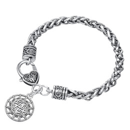Wholesale Wholesale Costume Charm Bracelets - Vintage Irish Knot Pendant Fashion Ladies Costume Jewelry Gifts Bracelets & Bangles Stainless Steel Charm Bracelet