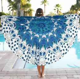 Wholesale Mat For Beach - For Christmas gift! Indian Mandala Tapestry Lotus Printed Bohemian Beach Blanket Yoga Mat Sunblock Round Bikini Cover-Up Towel