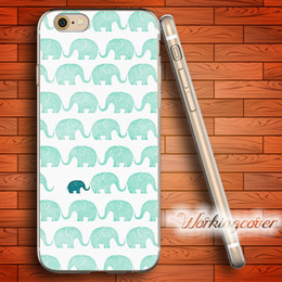 Wholesale Iphone Elephant Silicone Case - Capa Cartoon Elephant Cute Soft Clear TPU Case for iPhone 6 6S 7 Plus 5S SE 5 5C 4S 4 Case Silicone Cover.