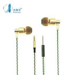 Wholesale Huawei Headphones - Metal Xiaomi Earphones Universal Headphone Noise Cancelling In-Ear earphone For Samsung HTC Huawei LG SONY iphone 7 6s Phone
