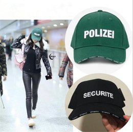 Wholesale Police Baseball Caps - Cap Men brand casual unisex letter police Baseball Caps women Snapback cap black SECURITE baseball cap
