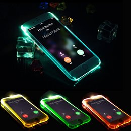 Semi-Transparent Shiny Series Calling Led light note case pour iphone 6 6s 6 \ 6s plus iphone 7 plus à partir de fabricateur