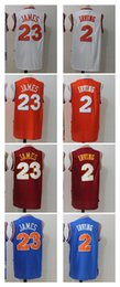 Wholesale Mixed Orders - 2017 New arrivals LeBron James 23 Kyrie Irving 2 Cavs Jersey Top Quality Embroidery Men Jerseys mixed orders