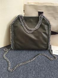 Wholesale Halloween Deer - 25cm stella Falabella Shaggy Deer pvc Fold Over crossbody shoulder chain bag luxury tote