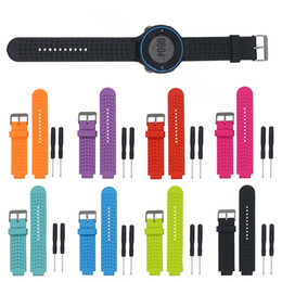 Wholesale Silicone Wristband Strap - Wholesale- Sports Safety Silicone Replacement Wrist Support Band Strap Wristband for Garmin Forerunner 220 230 235 620 630 Bracelet