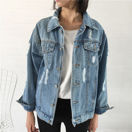 Wholesale Casual Coat Styles - 2017 Women Basic Coat Denim Jacket, Women Winter Denim Jacket For Jeans , Denim Coat loose fit casual style