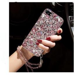 pour Samsung Galaxy s6 s7 bord s8 s9 plus note 4 5 8 luxe strass mignon diamant étui scintillant cristal longue chaîne ? partir de fabricateur