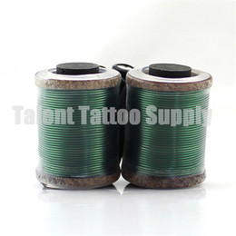 Wholesale 12 Coil Tattoo Guns - Wholesale- Wholesale Brand New Oxygen Free Copper Wire 12 wraps coil with 28mm core for shader tattoo machine gun free shipping