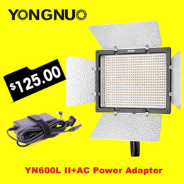 Wholesale Ac Adapter Camcorder - Wholesale-Yongnuo YN600L II Led Studio Light + AC Power Adapter Adjustable Color Temperature 3200K-5500K for SLR Cameras Camcorders
