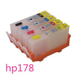 Wholesale Wholesale Deskjet Printers - or HP 178 HP178 refillable ink cartridge For HP Photosmart 7515 B109a B109n B110a Plus B209a B210a Deskjet 3070A 3520 printer