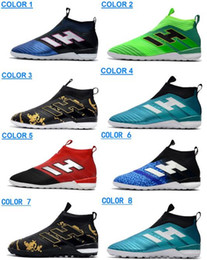 Wholesale Mesh High Heels - 2017 High Heel ACE 17+ PureControl TF Soccer Shoes Football Shoes Outdoor Football Boots ACE Tango 17+ Purecontrol IN Soccer Cleats Boots