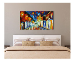 Wholesale Knife Landscape Paintings - Hand painted high quality modern living room walkway home decoration canvas painting palette thick oil knife painting JL074