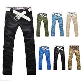 Wholesale Stylish Men Trousers - Wholesale- Men's Stylish Korean Style Trousers Casual Straight Slim Fit Long Pants Jeans