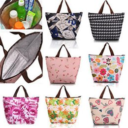 Wholesale Lunch Box Organizer - 50pcs 34*12*22cm Thermal Travel Picnic Thermal Bag Lunch Tote Waterproof Insulated Cooler Carry Lunch Box Bag Organizer Free Shipping