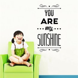 Wholesale Nature Wallpaper Poster Wall - You are my sunshine wall sticker poster bedroom Living room wall decals wallpaper wedding decoration