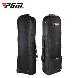 Wholesale foldable cart bag - Wholesale- Original PGM Air Golf Bag with Pulley Single-layer Consignment Golf Bags Aviation Card Bag On Front Foldable