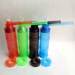 Wholesale Water Lighter - Glass plastic Acrylic Shisha Chicha Smoking Tool Tobacco Herb Holder Narguile Arguile Smoke Water Pipe Bong with LED Lighter Hookahs