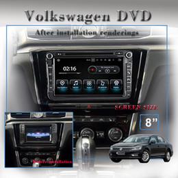 "Wholesale Dvd Jetta - 8.0"" Quad-core 1024*600 HD screen Android 7.1 Car Stereo Radio gps Car DVD Navigation For VW Passat Golf Polo CC Jetta Skoda Seat"