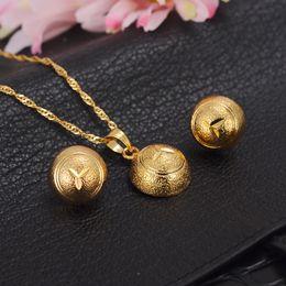 Wholesale Golden Mushroom - Dubai gold Ethiopian necklace mushroom pendant & earrings African sets gold GF jewellery Israel Sudan Arab middle east wome