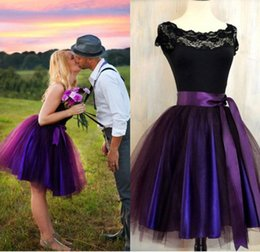 Wholesale Knee Length Plum Dress - Party Skirts High Waisted 2017 New Deep Plum Adult Tutu Skirt prom For Womens Aubergine Tulle Skirt Lined In Deep Purple