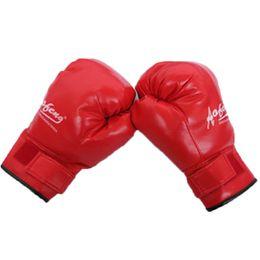 Wholesale Taekwondo Fighting Gloves - Adult Skulls Boxing Gloves PU Free Combat Fighting Sports Wearable Breathable For Muay Thai Training MMA UFC Karate Taekwondo Red Black