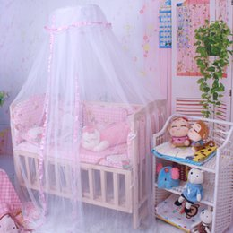 Wholesale Canopy Nets For Baby - Wholesale-1PC Baby Crib Mosquito Net Infant Bedding Delicate Summer Baby Bed Mosquito Mesh Dome Curtain Net for Toddler Crib Cot Canopy