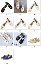 Wholesale Scarpe Uomo - New Casual fashion Women shoes loafers espadrilles Women trainers jute linen shoes for Women scarpe estive uomo superstar buty