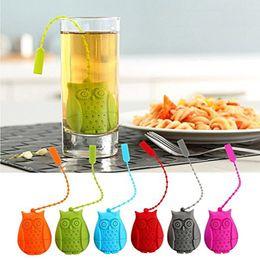 Wholesale Tea Infuser Unique - Owl Design Silicone Creative Tea Bag Reusable Tea Infuser Strainer Set Unique Cute Tea Leaf Infuser
