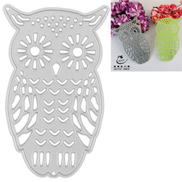 Wholesale Hollow Owl - Cute Owl Cutting Dies Hollow Out Stencils For Steel Template DIY Scrapbooking Album Decorative Embossing Craft