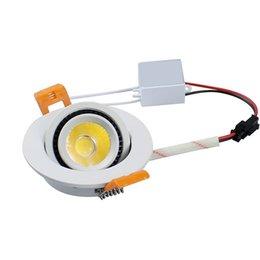 Wholesale Pc Spotlight - Hot Sales 5w 7w cob led downlight dimmable led Recessed Ceiling spotlight lamp 110v 220v Nature White 4000K +drivers CRI85 CE UL