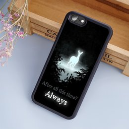 Wholesale Harry Potter Iphone 4s - Always Harry Potter Hogwarts cellphone Cases For iPhone 6 6S Plus 7 7 Plus 5 5S 5C SE 4S Back Cover