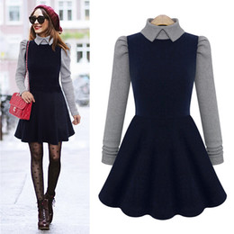Wholesale Doll Collar Dress Sleeve - Cheap the new autumn and winter dolls with long sleeves and long sleeves LYQ220