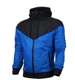 Wholesale L Men Model Hot - Fall-Hot ! Men Spring Autumn Thin Jacket Coat,Men and women sports windbreaker jacket explosion Black models Windrunner jacket couple