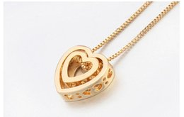 Wholesale Gold Filled Materials - Crystal Necklace. Fashion Necklace. Pendant Necklace. Ornaments. Woman. Girls. Heart shaped. Alloy material. Electroplate.Heart,love.