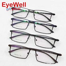 Wholesale Titanium Alloy Eyeglasses Frame - Wholesale- 2017 New Arrival optical frame Prescription glasses Alloy full frame eyeglasses business men spectacle frame