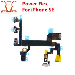 Wholesale Iphone Power Button Switch - For iPhone SE Power Button Volume Buttons Connector Flex Cable Light Sensor Power Switch ONOFF Original Replacement Parts