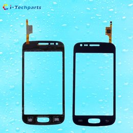 Wholesale Galaxy Ace Touch - For Samsung Galaxy Ace 3 S7270 S7272 S7275 Front Touch Screen Digitizer Panel Glass DUOS Replacement with Logo,Black White