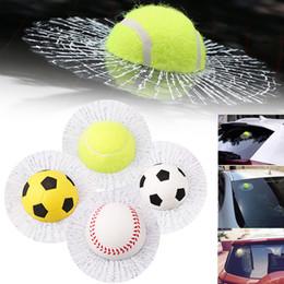 3D Drôle Voiture Auto Style Corps Fenêtre Auto-Adhésif Balle Frappe Autocollant Baseball Tennis Decal CEA_30S ? partir de fabricateur