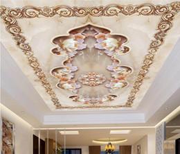 Murais de pedra on-line-3d murais de teto papel de parede personalizar papel de parede para paredes 3 d teto mural Jade carving peony stone 3d wallpapers teto para sala de estar
