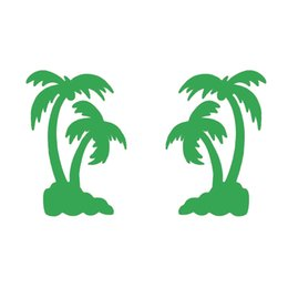 Wholesale Car Sticker Tree - Handicrafts Vinyl Decals Car Stickers Glass Stickers Scratches Stickers Wall Die Cut Bumper Accessories Jdm 11cm x 16cm Palm Tree