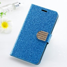 Wholesale Galaxy Note Bling - Wallet case For iphone X For iphone 8 plus galaxy note 8 For Alcatel A30 Fierce Metropcs Glitter Bling Leather Diamond Rhinestone Cover