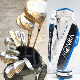 Wholesale Clubs Golf Bags - New Golf clubs Honma S-05 4star Complete Clubs set Golf driver+wood+irons+putter Clubs Graphite shaft and Golf bag Free Shipping