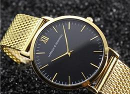 Wholesale Special Design Watches - Super Quality Quartz Watch Ladies Top Fashion Brand Special Design Women Men Gold Steel Casual Dress Hour Waterproof Wrist Watches Hot