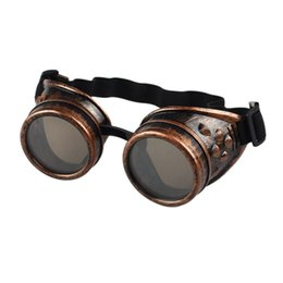 Wholesale Wholesale Welding Greens - Wholesale- Welding Cyber Punk Vintage Sunglasses Retro Gothic Steampunk Goggles Glasses Men Sun Glasses Plastic Adult Cosplay Eyewear
