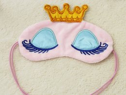 Wholesale Sleep Mask Brands - Brand new princess crown face sleep mask eye mask traveling and sleeping blindfold nap cover