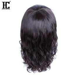 Wholesale Medium Length Straight Hair Wigs - HC Hair 100% Virgin Remy Human Hair Charming Mid-Length BOB Natural Wave Cheap Lace Front Human Hair Wigs For Black Women Natural Color