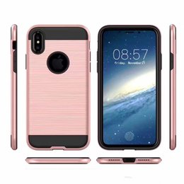 Wholesale Iphone V - V-erus Brushed Rugged Dual Layer Anti Shock Armor Case Back Cover For LG Stylo 3 Iphone X 8 7 6 6s Plus Samsung S9 plus Note8 OPPBAG Aicoo